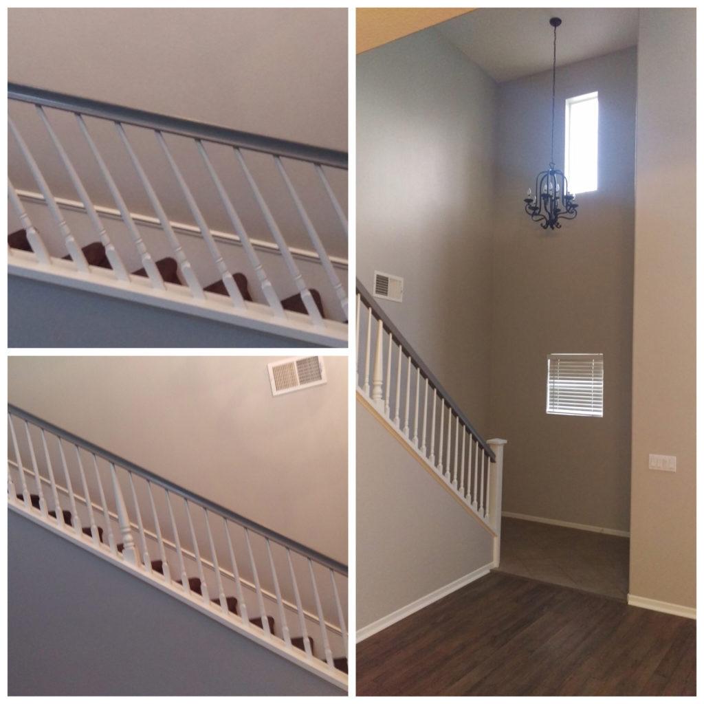 Staircase grey & white